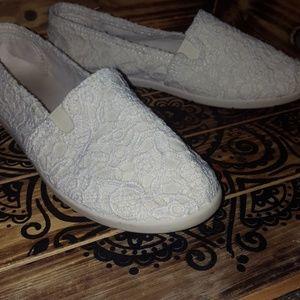 Lace Detail Slip On Shoe